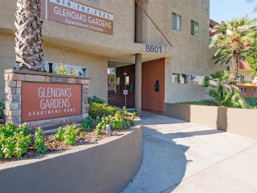 Entrance to community  Glenoaks Gardens Rentals in Sun Valley, CA 91352