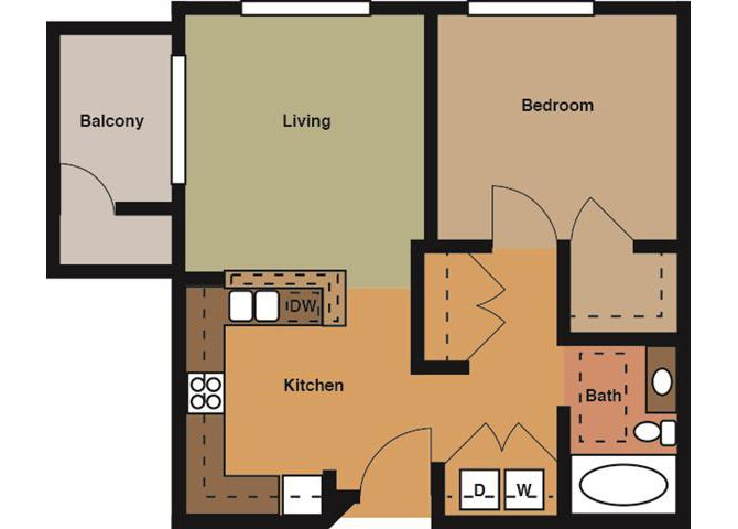 the Hampton Building B floor plan
