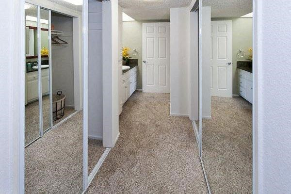 Loads  of closet space with mirrored doors