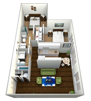 Two Bed One Bath Plan B