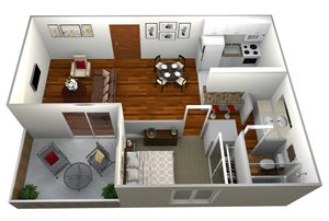 1 Bedroom Plan A