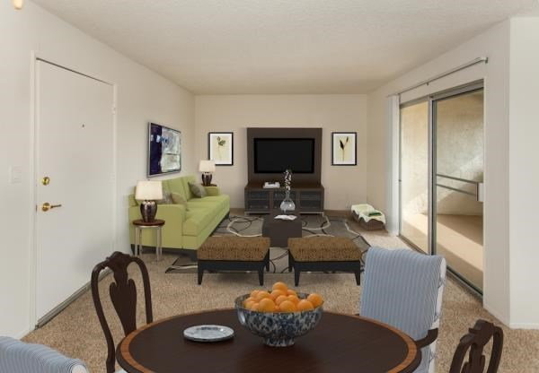 Huge Balcony Adjacent to Living Room