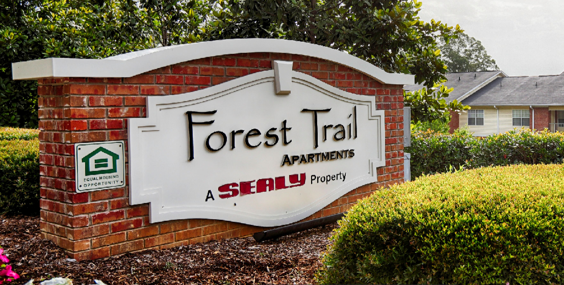 Welcome Sign at Studio Apartment Floor Plan - Forest Trail Apartment Homes Northport, AL
