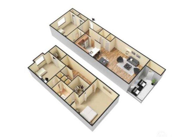 3Bed - 2Bath-TH Floor Plan 6