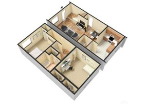 Two Bed - 1.5 Bath TH