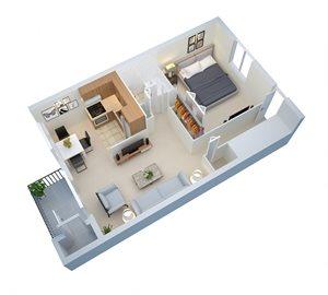 1st Floor 788 Sq Ft