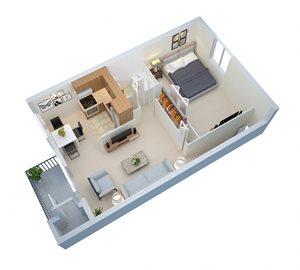 2nd Floor 788 SF
