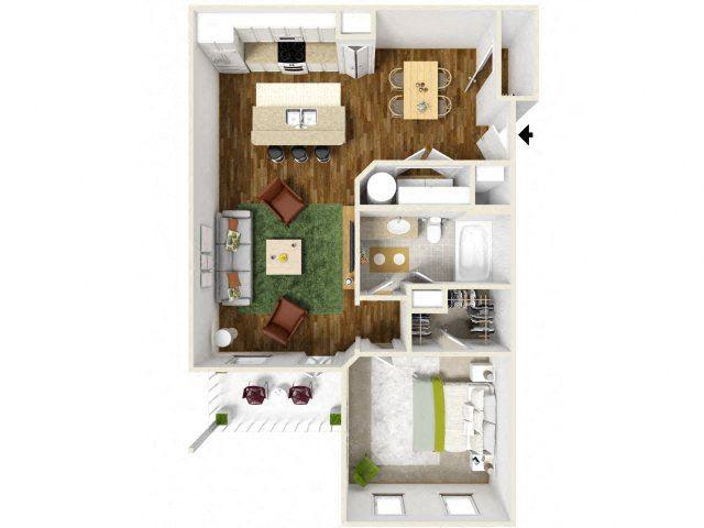 Sonoma Pointe One Bedroom Floor Plan