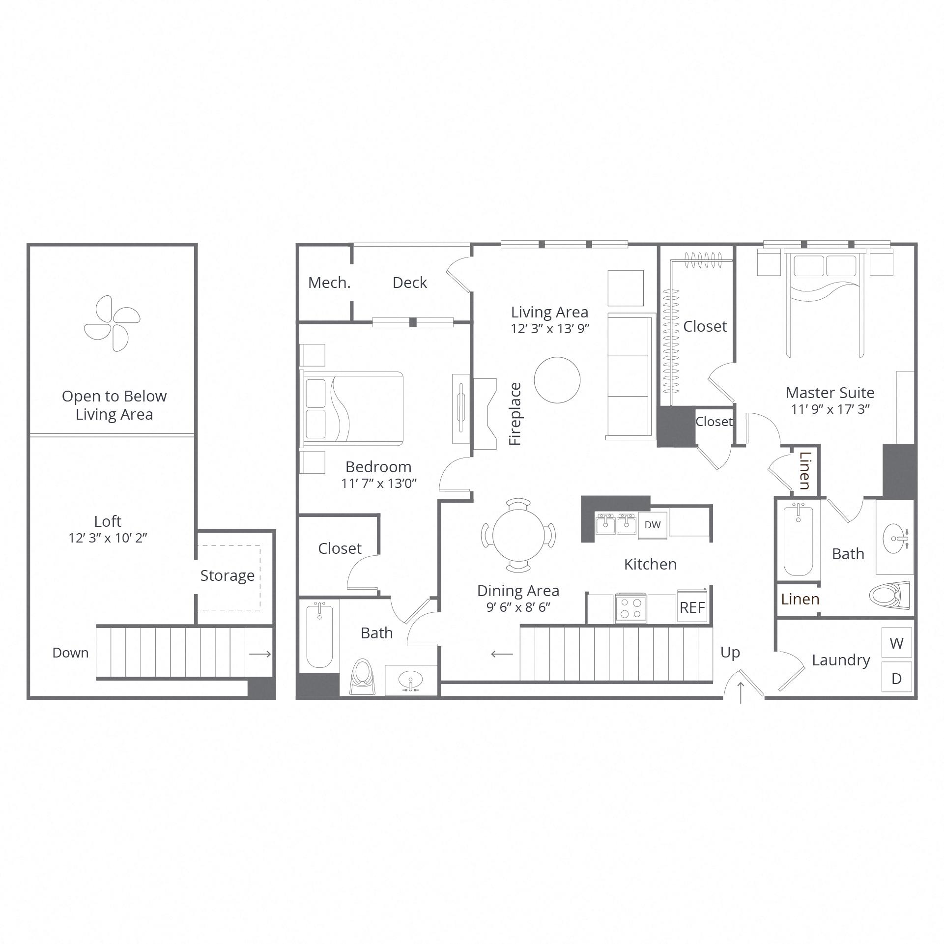 Danbury Apartment Floor Plans