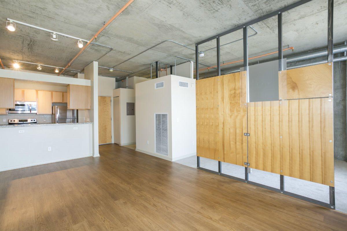 Ballpark Loft Apartments Open Floor plan