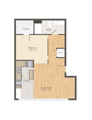 Ballpark Loft Apartments 1 bed 1 bath