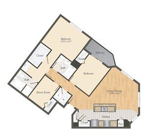 Ballpark Loft Apartments 3 bed 2 bath