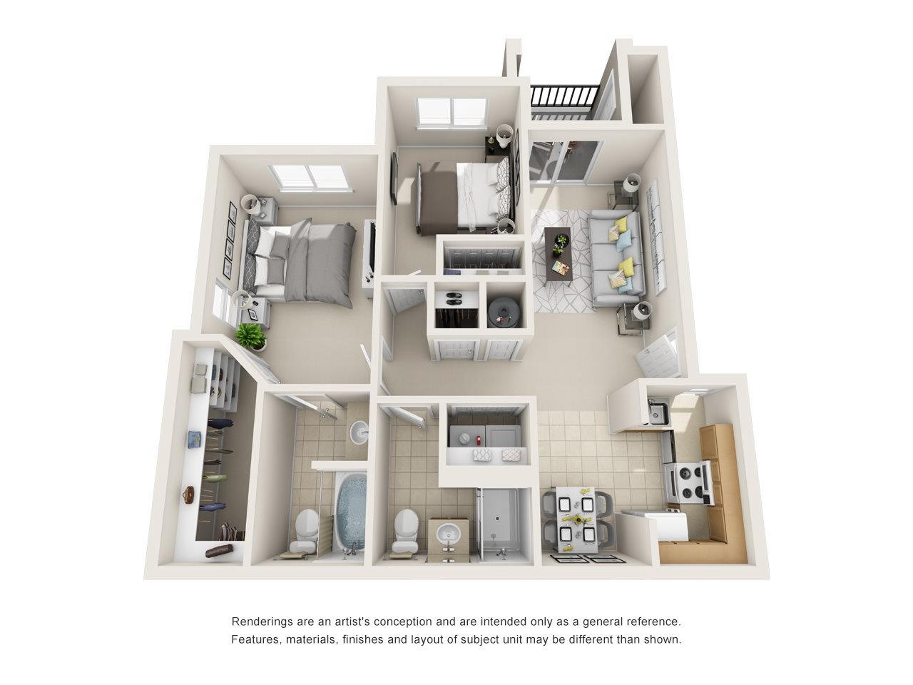 Floor Plans of Copper Canyon Apartment Homes in Highlands Ranch, CO