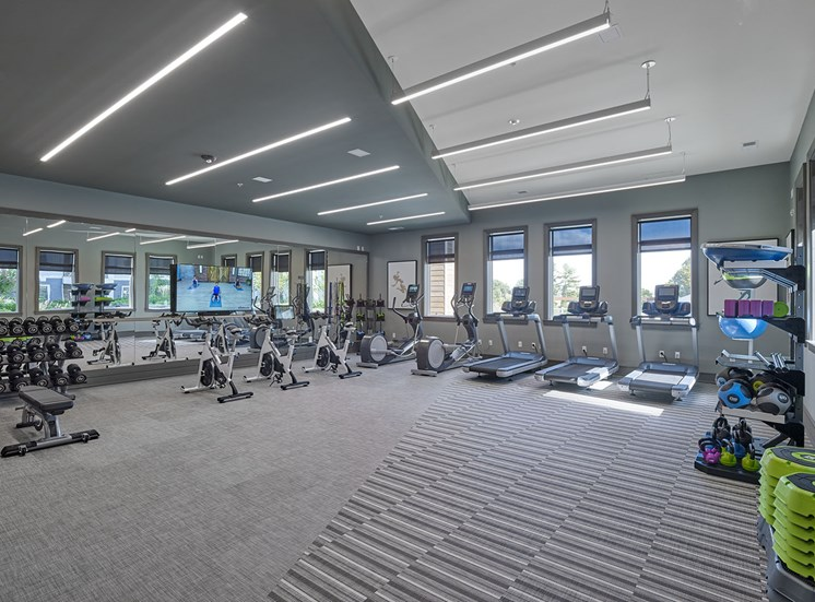 Fitness Center with Cardio, Strength Training and On-Demand WellBeats