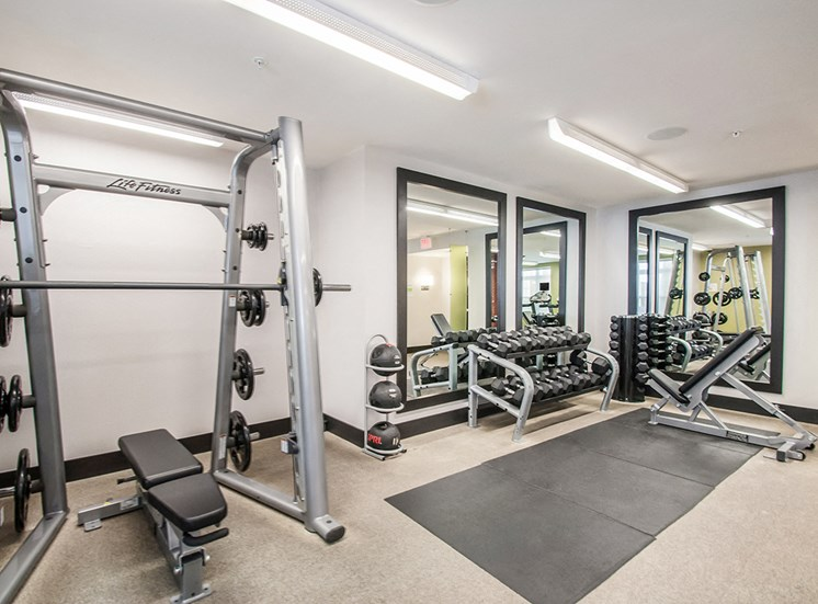 Fully equipped fitness center at Northgate at Falls Church, Virginia