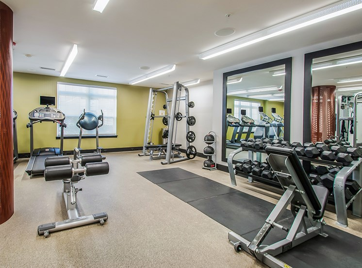 Fully equipped workout room at Northgate apartments