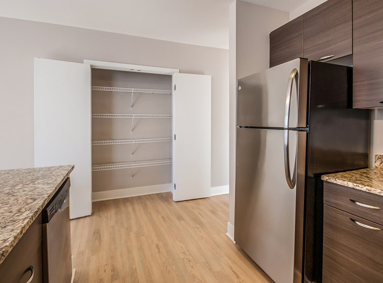 Large kitchen pantry in Northgate apartment homes