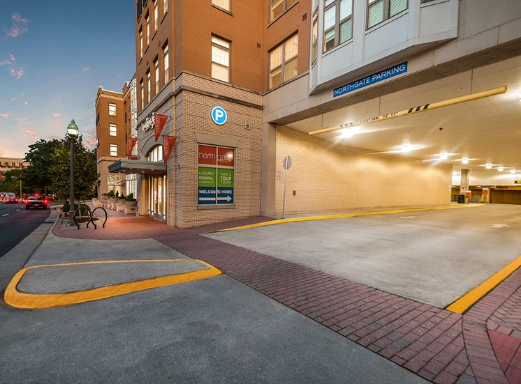 Garage entrance at Northgate in Falls Church, Virginia