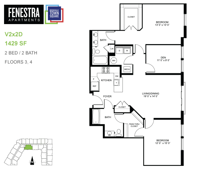 The fenestra at rockville town square studio one two - 3 bedroom apartments in rockville md ...