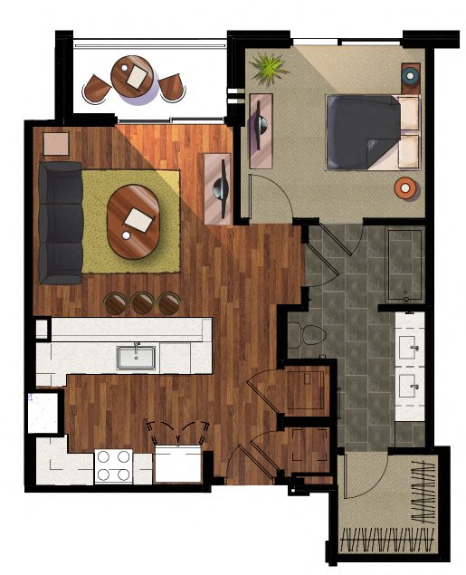 1 Bedroom A1 Apartment