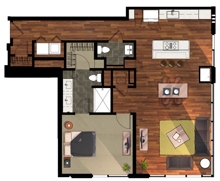 1 Bedroom A11 Apartment