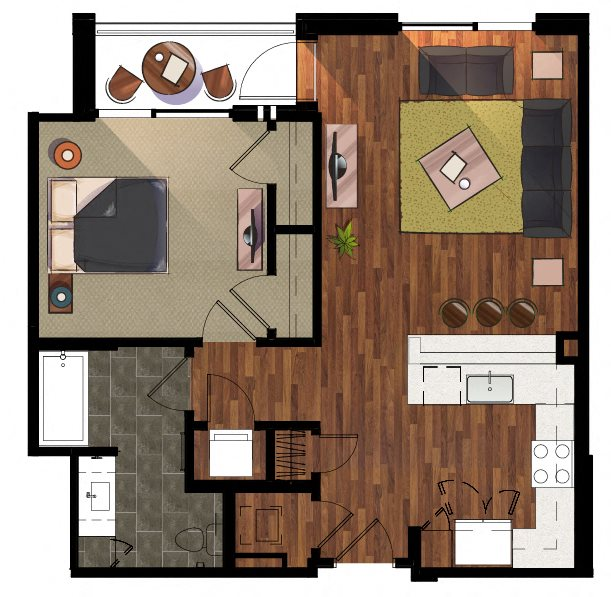 1 Bedroom A5 Apartment