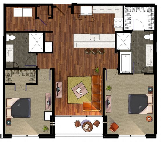 2 Bedroom B4 Apartment