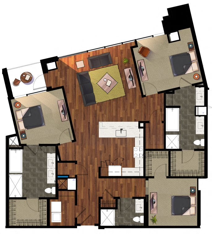 3 Bedroom C1 Apartment