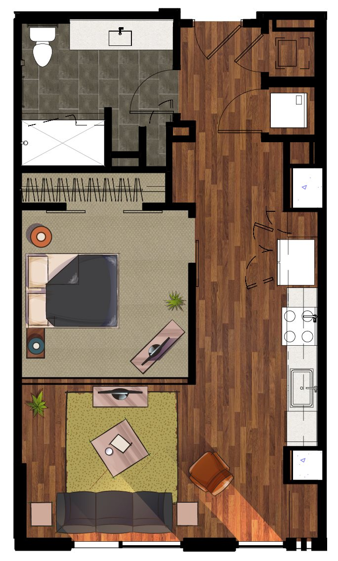 E2 Efficiency Apartment