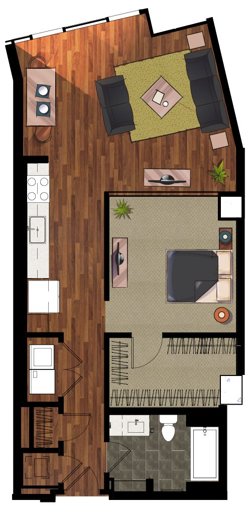 E3 Efficiency Apartment