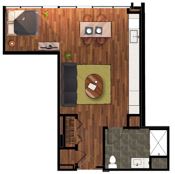 S2 - Studio Apartment