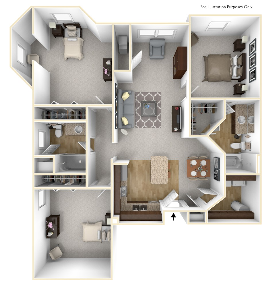 Floor Plans Of The Grand Castle Apartment Homes In