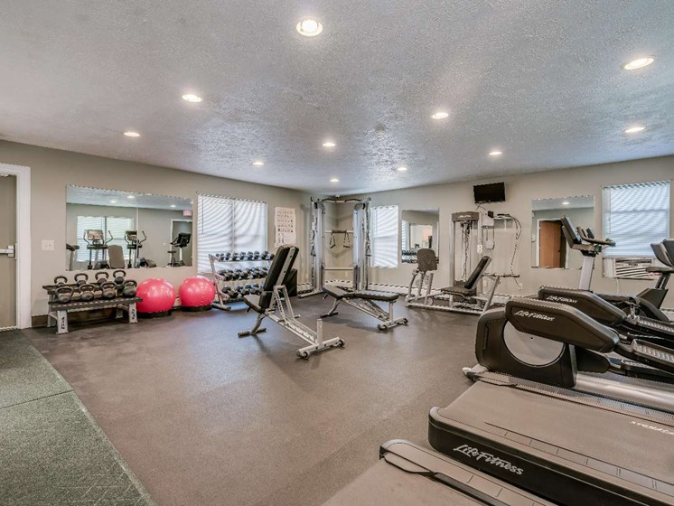 Fully Equipped Fitness Center at Parkstead Watertown at City Center, Watertown, NY
