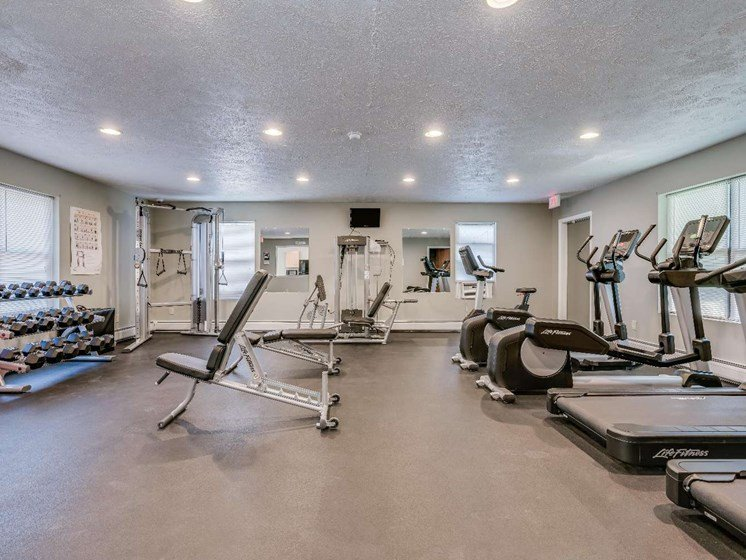 Fitness Center With Updated Equipment at Parkstead Watertown at City Center, Watertown, 13601
