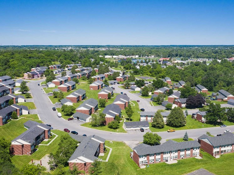 Aerial View Of Property at Parkstead Watertown at City Center, Watertown, NY