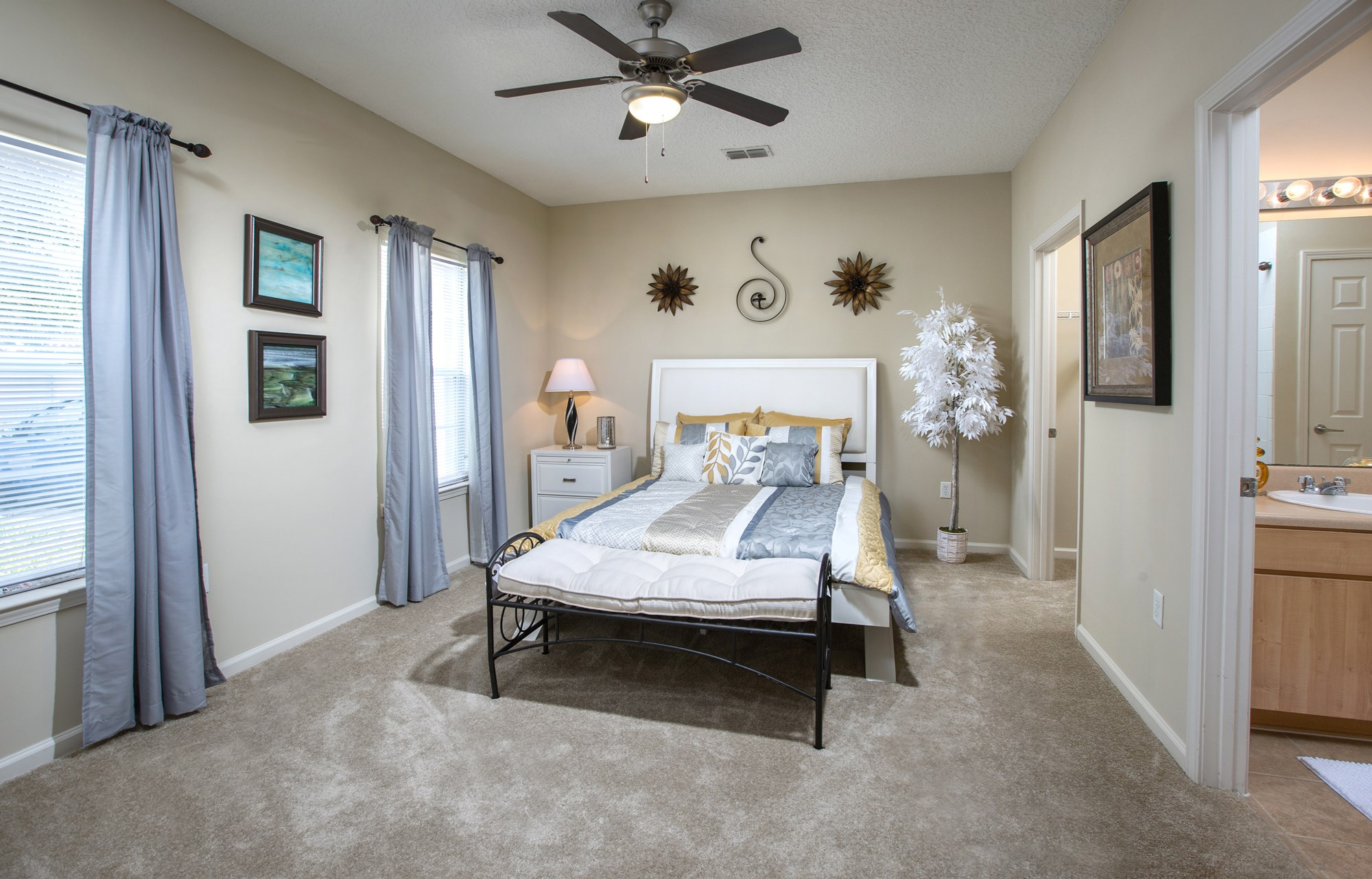 Large Bedroom at Magnolia Village Apartments in Jacksonville, FL