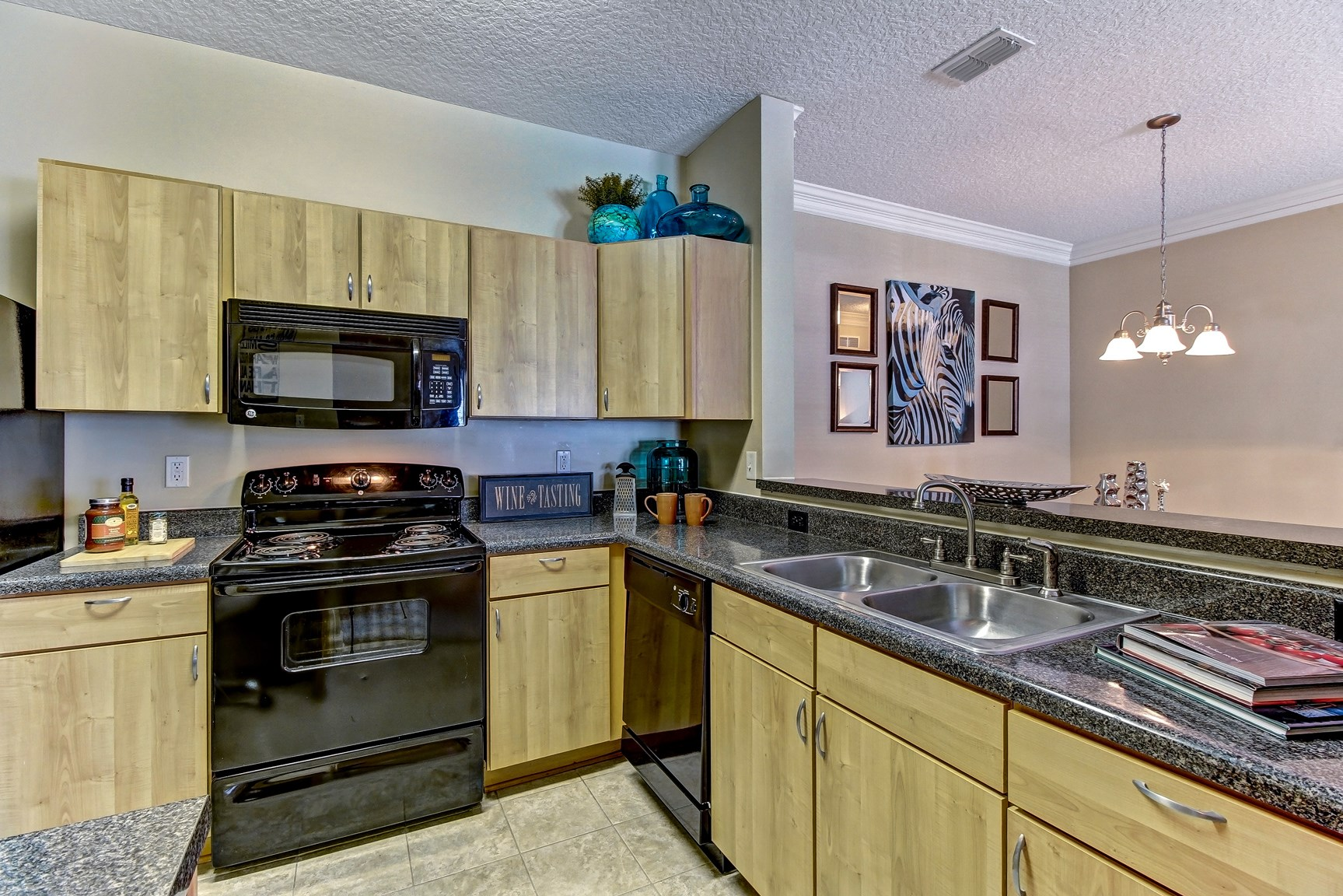Kitchen at Magnolia Village Apartments in Jacksonville, FL