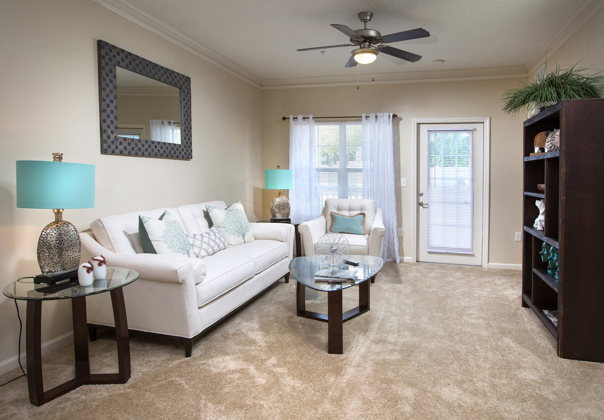 Living Room at Magnolia Village Apartments in Jacksonville, FL