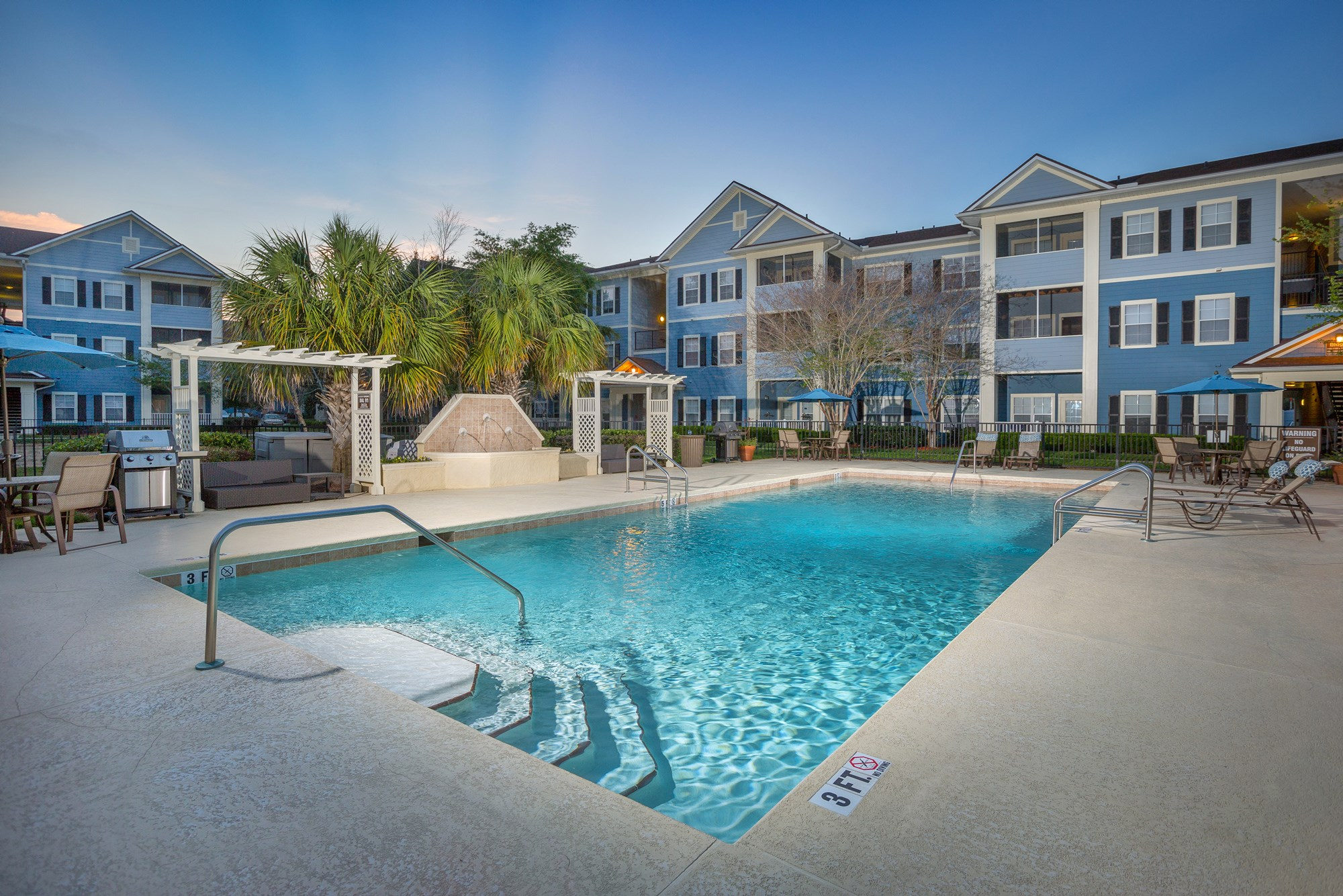 Swimming Pool at Magnolia Village Apartments in Jacksonville, FL