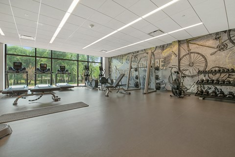 state-of-the-art fitness for residents of Exton apartment rentals at Keva Flats