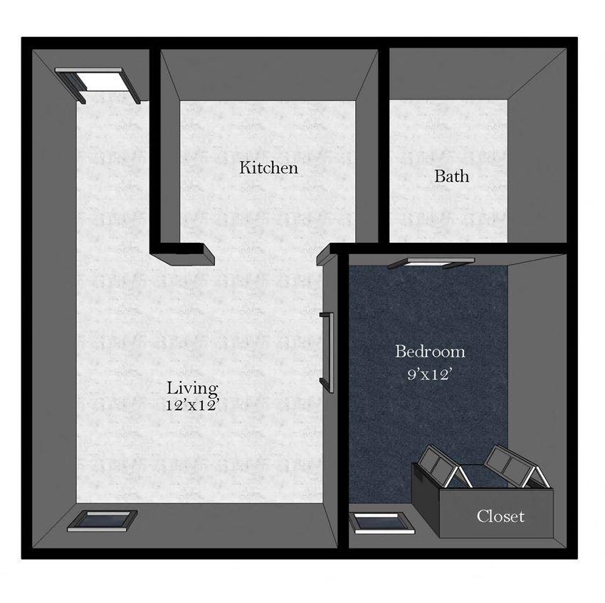 Medical Plaza: 1 Bedroom / 1 Bathroom