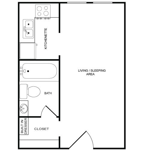 Studio Type I Floor Plan 1