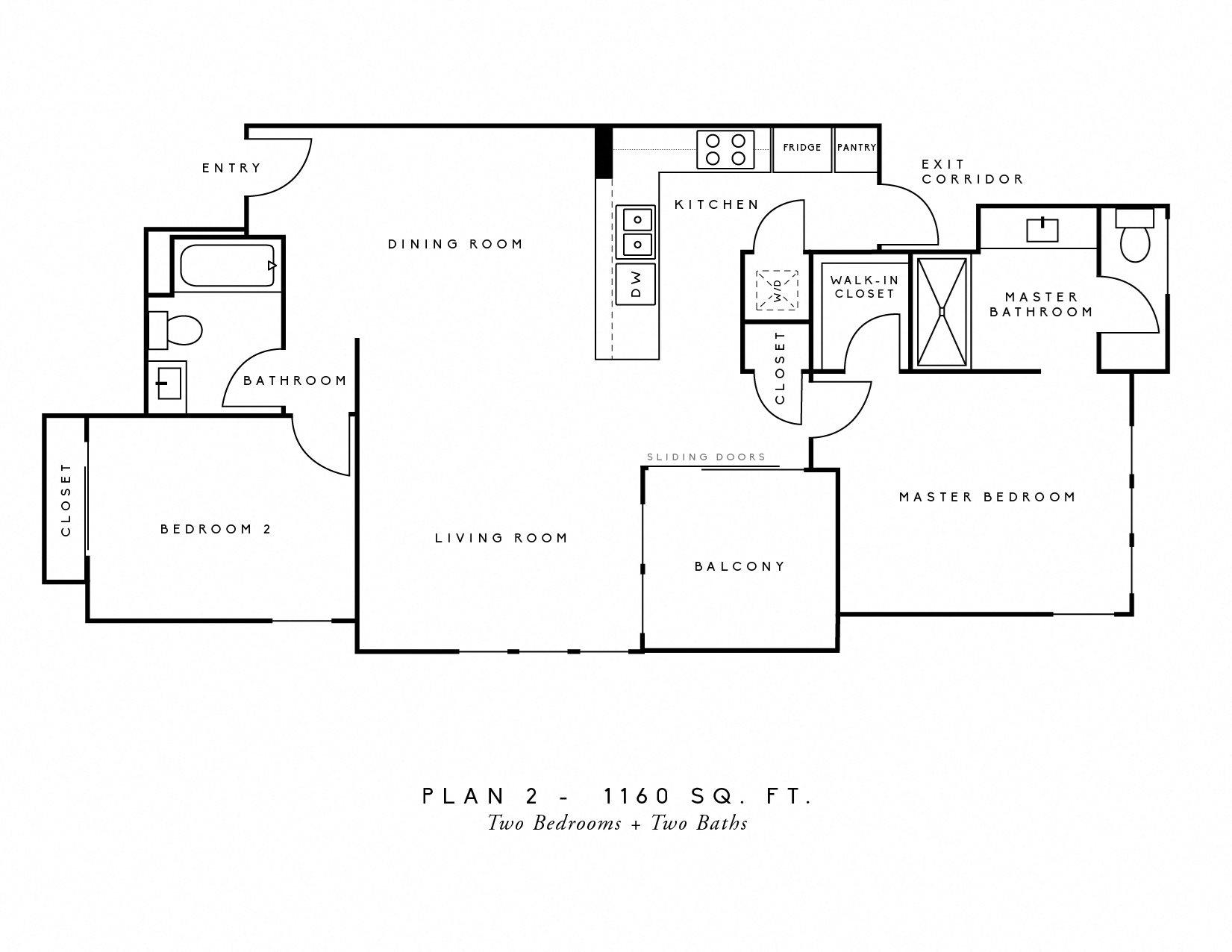 AscentAtCampusOfLife_2Bedroom_2Bath_FloorPlan