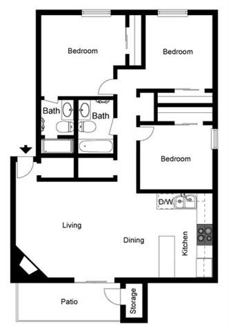 Pueblo Floor Plan 4