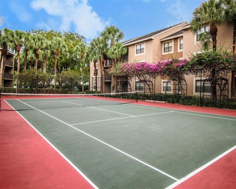 Synthetic Tennis Courts at Hammocks Place Apartments, 15280 SW 104th St, Miami, FL