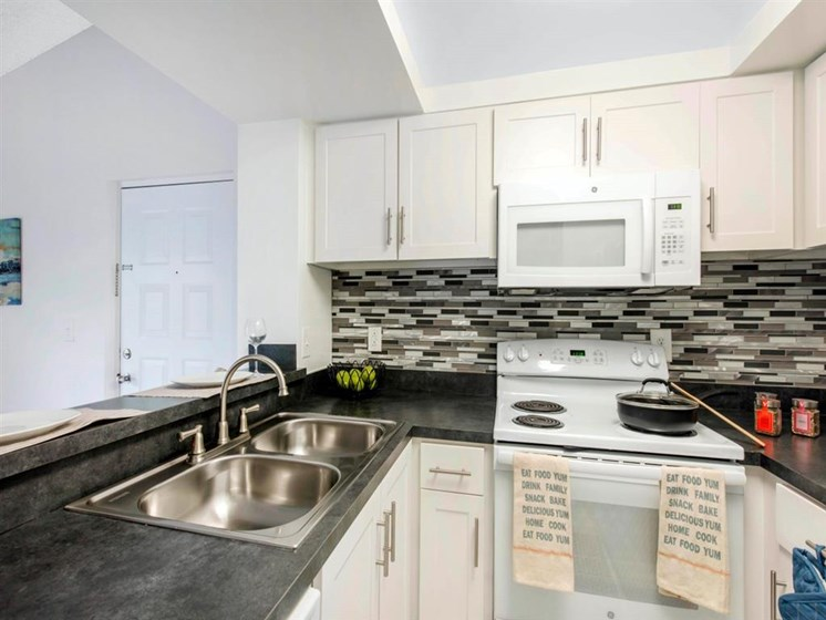 Kings Colony Fully Equipped Kitchen with Mosaic Back Splash