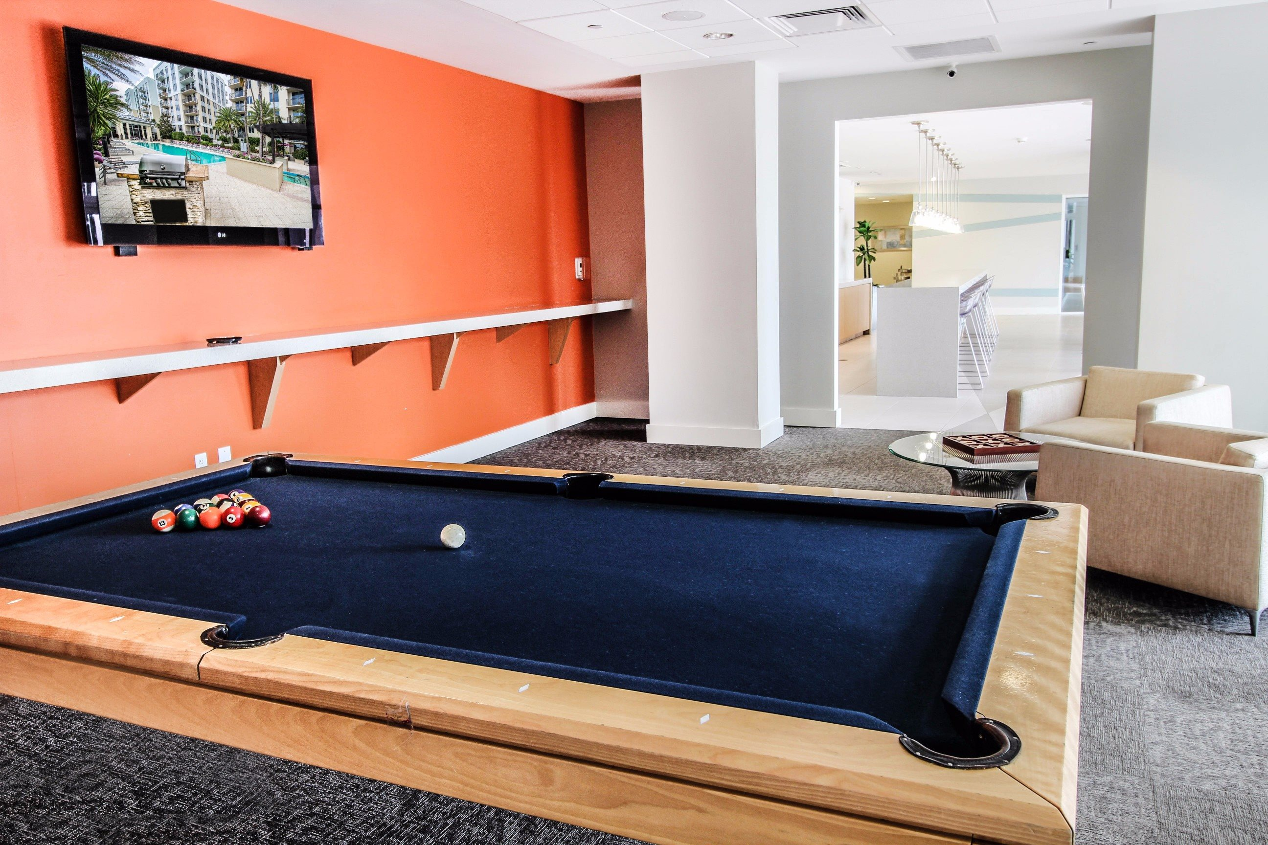 Midtown 24 Clubhouse with Pool Table