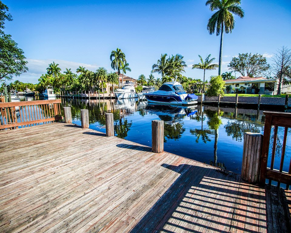 Lake with Pier at New River Cove Apartments, 3711 State Road 84, FL 33312