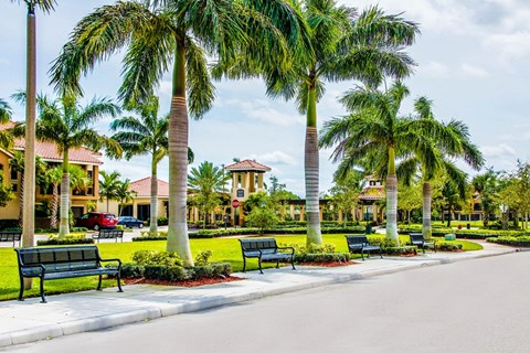 Beautifully Landscaped Groundsat Oasis Delray Apartments, FL 33484
