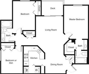 Palm Trace| 3A Future Floor Plan 3 Bed 2 Bath